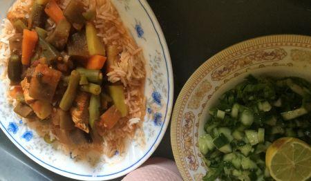 وجبتي للغداء مع الكوتش ام منصور